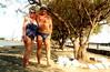 Elounda, Crete on the beach (pj's memories) Tags: beach sunglasses seaside greece briefs crete slip trunks vpl brief sunbathing speedos bulge sunhat