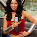 Heather Ford of Fox 5 as Wonder Woman at SDCC 2012