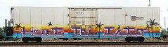 Heat/Isto (quiet-silence) Tags: railroad art train graffiti railcar heat production unionpacific graff freight reefer isto tci akb armn fr8 endtoend e2e armn110955