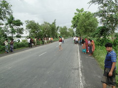 Road surveys on the Mirpur-Paturia road (N5), July 2012