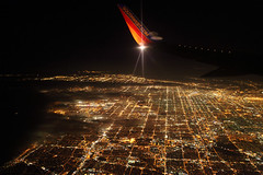 Leaving LA (dbcnwa) Tags: california light usa night lights evening flying losangeles inflight wing aerial nighttime boeing lax winglet departure 737 southwestairlines wn swa nightaerial beoing737