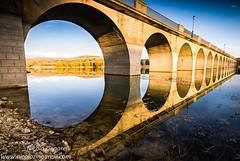 Maderuelo, the bridge over the Riaza river. Segovia, Spain (Nicola Zingarelli) Tags: bridge lake reflection art classic tourism water architecture spain arches tourist reflected spanish rebuilt oldvillage xxcentury maderuelo riazariver