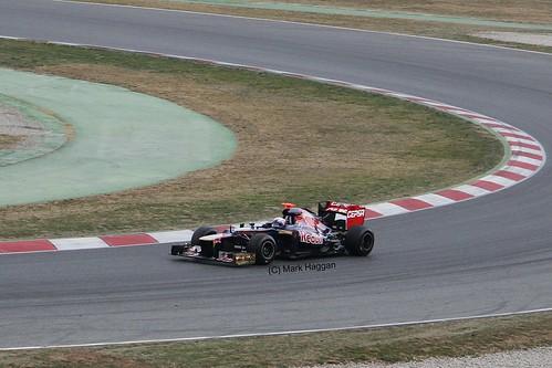 Daniel Ricciardo in his Toro Rosso at Formula One Winter Testing, Circuit de Catalunya, March 2012
