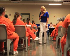 inmates in class (Inmate_Stripes) Tags: orange female women class prison jail prisoners convicts inmates
