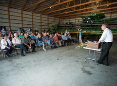 U.S. Secretary of Agriculture farm visit (The Iowa Soybean Association) Tags: weather farm dry iowa drought crops