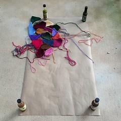 I get a sense of the crazy quilt center panel (crochetbug13) Tags: crochet crocheted crocheting template hotsauce corner weight weights pieces multicolor rainbow northcarolina statefair quilt crazyquilt