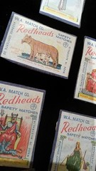 redheads matchbox covers (2r0xf0x deLuXe) Tags: redheads matches label
