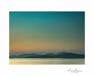 Sunset on Sound of Taransay