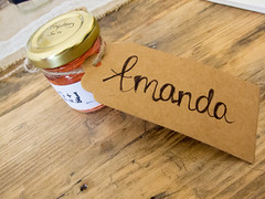 IMG_6766.jpg (the_amanda) Tags: julesandgregswedding wedding scotland inshriach house reception amanda raspberry gin label jar favour name place