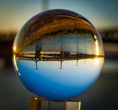 _MG_0393 (AdamFejes) Tags: glass globe glassglobe pointofview light sun summer blackandwhite bw colour city budapest danube sunset
