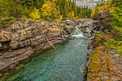 Autumn's Allure (Philip Kuntz) Tags: autumn fall fallfoliage colorsofautumn mcdonaldcreek glacialwaters teal glacier glaciernationalpark montana nationalparks nationalpark100thanniversary