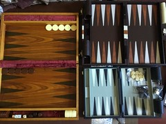 Few of my Backgammon boards the wooden one I made more than 32 years ago. (allanpar) Tags: backgammon