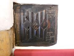 Castle Dairy. Kendal, Cumbria. Spice cupboard door. (hercon2000uk.) Tags: linenfold loopedhandle butterflyhinges spicecupboard