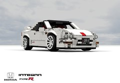Honda Integra Type-R (DC2 - 1995) (lego911) Tags: honda acura integra type r typer dc2 1995 1990s lego auto car moc model miniland lego911 ldd render cad povray lugnuts challenge 106 exclusiveedition limited exclusive special edition vtec vtecr japan japanese sport coupe liftback