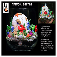 9 - TIDEPOOL BESTIES (electra-cute) Tags: chow sandramiller polymerclay whine wineglass