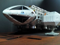 13 September 1999 (ManOfYorkshire) Tags: moonbase alpha space 1999 eagle transporter craft landingpad takeoff landing eagle4 pad2 landingpad2 productenterprise diecast scale model 176 approx diorama sciencefiction scifi gerryanderson inspired 13september1999 breakaway 130999 date