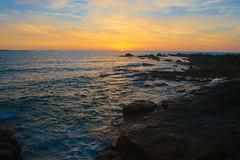 Sunset Fort (Luke Laine) Tags: sunset glow horizon sea rock summer