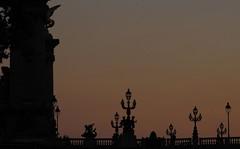 Alexandre III bridge silhouette (lgh75) Tags: theparisphotographymeetupgroup paris backlight contrejour pont pontalexandreiii bridge couchsoleil sunset silhouette emptyspace