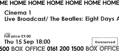 The Beatles: Eight Days A Week @ Home, Manchester 15/9/2016 (stillunusual) Tags: thebeatles eightdaysaweek manchester home film movie documentary cinema ticket cinematicket 2016