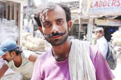 A Portrait of The Delhi Walla as a Typical Hindi Film Hero (Mayank Austen Soofi) Tags: delhi walla a portrait moustache the typical hindi film hero
