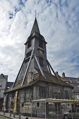 2016.06.28.052 HONFLEUR - Eglise Sainte-Catherine, le clocher (alainmichot93 (Bonjour  tous)) Tags: 2016 france normandie seinemaritime honfleur architecture rue faade toit fentre colombages clocher