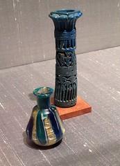 1-3 Dressing Table History (MsSusanB) Tags: metmuseum metropolitan art dressingtable cosmetic glass bottle egypt roman faience antique