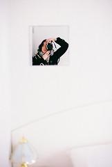 Minimalism (Katie Tarpey) Tags: film kodak kodakgold400 nikonfm10 nikkor50mm14 minimalism self selfportrait mirror cabin caravanpark bedroom white winter traralgon victoria stranded bored