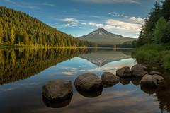 Sunrise Reflection (echoxgxg) Tags: sunrise trillium lake mounthood sony reflection