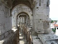 Arles Amphitheatre (AmyEAnderson) Tags: outdoor amphitheatre stadium coliseum arches collonade historic roman romanesque arles france bouchesdurhone provence limestone architecture shadow unesco