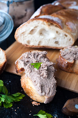 mousse, pate in a jar with baguette and parsley (lyule4ik) Tags: bread pate breakfast baguette board food rustic closeup paste slice delicious snack canape toasted homemade gourmet toast mousse smoked lunch creamy sandwich cream appetizer herb wooden background fresh rillette eating jar fish dip spread salmon antipasto italian healthy starter cuisine nutrition crispy seafood tuna onion dish wine