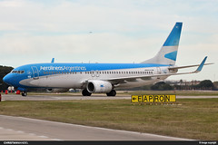LV-CTC - Aerolineas Argentinas (ChristianMD89) Tags: aeroparque aviation aviacion spotting argentina boeing 737 738 737ng lvctc buenosaires aviationphotography sabe aep cloudy parking plane airplane airframe boeing737