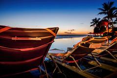 Deck chairs overlooking Waikiki (Victor Wong (sfe-co2)) Tags: deck chair waikiki honolulu hawaii usa sunset waterfront sheraton hotel