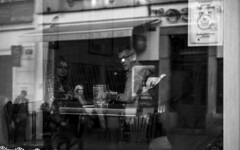 Sleeping at the bar. (Riccardo Nobile Photos ) Tags: poland polish bar sleeping black white bianco nero bn top riccardo nobile d600 nikon nikkor street italian style moment