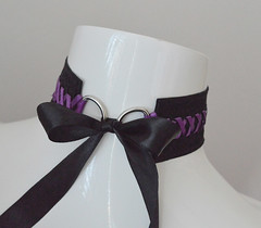 Evil queen (ceressiass) Tags: halloween lolita cute kitten play kittenplay costume cosplay ddlg princess lovely black purple nekollars ceress potan choker necklace collar accessories etsy handmade blood vampire horror party