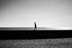 Boyhood (EyeOfTheLika) Tags: ifttt 500px monochrome landscape people beach sea ocean lake light water sunset silhouette sky street one man dawn lika photography bnw black white
