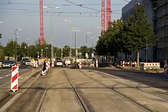 Das im August errichtete Gleisdreieck ist fertiggestellt. Hier schliet die Neubaustrecke nun an das Bestandsnetz an (Frederik Buchleitner) Tags: baustelle bergamlaim haidhausen linie25 mvg munich mnchen neubaustrecke steinhausen strasenbahn streetcar tram trambahn