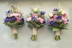 vintage style bouquets (bloomsdayflowers) Tags: pink flowers ireland wedding rose vintage garden purple natural cork ranunculus anemone florist bouquet bridal wildflower buttonhole bloomsday astrantia carrigtwohill