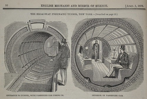 Broadway Pneumatic Tunnel  - English Mechanic 1870 a