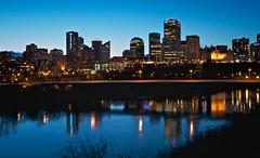 Edmonton Blue Hour (Matthew P Sharp) Tags: canada reflection edmonton alberta bluehour yeg