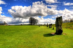 Stone Avenue (Shertila Tony) Tags: england sky megalithic weather clouds standingstones europe day cloudy britain stones tourist tony historic worldheritagesite visitors wiltshire nationaltrust prehistoric hdr cultural avebury bronzeage neolithic stonecircle henge prehistory unescosite yahooweather newstoneage flickraward mygearandme kennetvalleyhdr