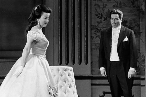 Lisa Della Casa as Arabella and Dietrich Fischer-Dieskau as Mandryka in Arabella © 1965 Royal Opera House/Donald Southern