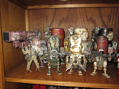 3A Collection June 2012 (Hippobotimus) Tags: world wood robot portable war action designer ashley 3a figures wwrp threea bambaboss 3acollectionjune2012
