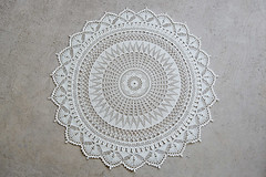 Centrepiece Doily (Uijeongbu Knitter) Tags: thread lace crochet cotton doily crafting centrepiece