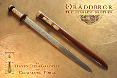 Orddbror - the fearless brother 1 (Cedarlore Forge) Tags: irish art leather bronze fire iron pattern hand steel smoke traditional knife progress craft folklore legendary norwegian fantasy lapland sword copper historical nordic celtic knives dagger blacksmith forge coal swords saga brass damascus mythology sculptures blades forged artisan weapons heroic nord anvil oldworld spear welded pilgrims norse artistry wrought metalsmith nordland mythic folktale tooled bladesmith seax smote sver svord lngsvrd cedarlore