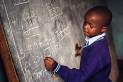 Kenyan Classrooms (lifeinpixels_) Tags: africa school kids canon children chalk dof classroom kenya bokeh african math mathematics shallow chalkboard kenyan