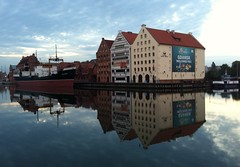 Gdansk Welcomes You.... (Minkn) Tags: world ocean blue light sea sky cloud sun color apple nature water beautiful norway mobile clouds reflections walking spectacular landscape mirror norge seaside nice scenery perfect heaven skies colours view great natur poland polska polish calm norwegian scenary stunning mirrored vann perarne bl landskap polski seawater brackish naturesfinest iphone4 scenicsnotjustlandscapes minkn reflectionreflectionsarcitectialbuildingsboatriversidegdanskwelcomesyou marineseaside