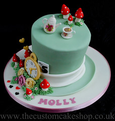 Alice in Wonderland Mad Hatter Cake (thecustomcakeshop) Tags: birthday roses clock cakes cup hat rose cake tea alice birthdaycake teapot toadstool mad wonderland madhatter hatter toadstools