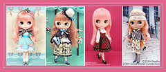 Neo Blythe Comparison: Coco Collette (CoCo/first), Heart of Montmartre (HoM/second), Stella Savannah (StSa/third) and Mademoiselle Rose Bud (MRB/last)CoCoColette (electrikbarbarella) Tags: pink coco comparison mrb hom rbl mademoisellerosebud stsa neoblythe heartofmontmartre stellasavannah cococollette