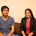 Washington Internship for Native Students (WINS) interns Jeremy Tsetchlikai (Zuni) and LaToya Thomas (Navajo) visit the Navajo Nation Washington Office. Tsetchlikai and Thomas are interns at the U.S. Census Bureau in Washington, DC until the end of July. Photo by Jared King / Navajo Nation.    This Navajo Nation Washington Office photograph is being made available only for publication by news organizations and/or for personal use printing by the subject(s) of the photograph. The photograph may not be manipulated in any way and may not be used in commercial or political materials, advertisements, emails, products, promotions that in any way suggests approval or endorsement of Navajo Nation President Ben Shelly, Navajo First Lady Martha Shelly, or Vice President Rex Lee Jim.