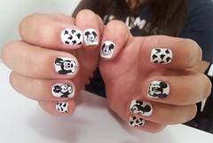 Mickey (Chá de Unhas) Tags: blackandwhite white black cute fun cartoon disney mickey nails unhadecorada